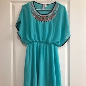 NWOT Francesca's Turquoise Dress